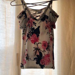 Cold shoulder flower blouse